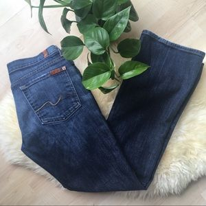 7 FOR ALL MANKIND Bootcut Flare Jeans dark 28